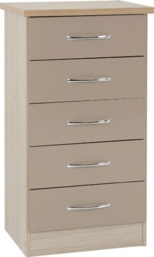 Blanca Slim Chest of Drawers Oyster